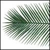 Kunststoff Palmenwedel