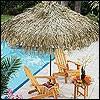 Palmendächer - Sonnenschirme