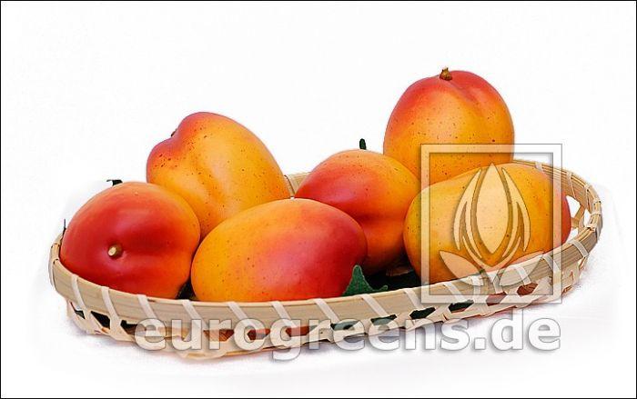 künstliche Mango gelb rot