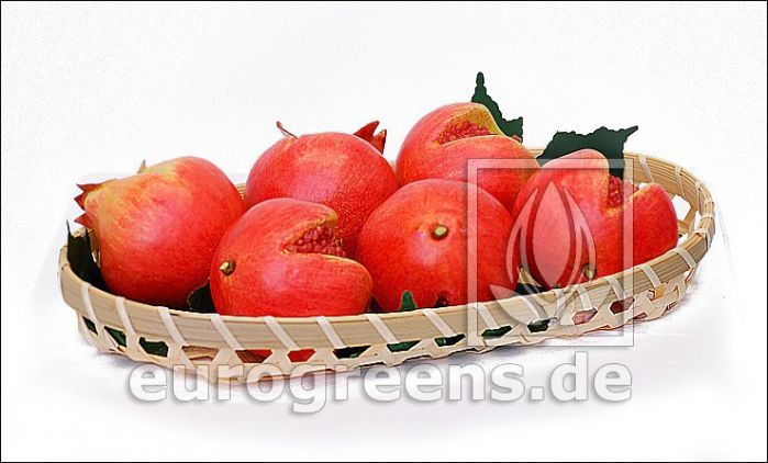 künstliche Granatapfel rot