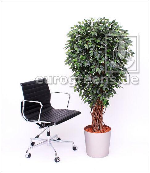 Kunstpflanze Ficus Liane Miniblatt de Luxe, grün 180cm