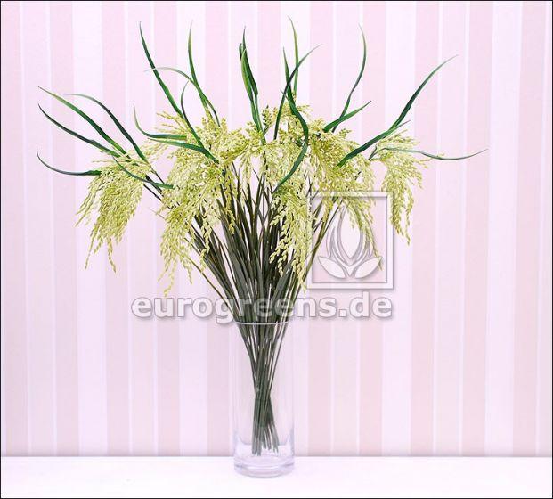 künstlicher grüner Reis Zweig ca. 75cm