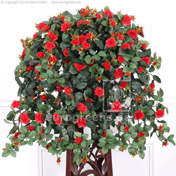 Kunstpflanze Rosenranke rot ca.70cm