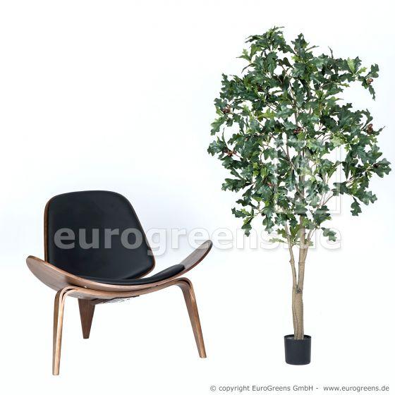 künstlicher Eichenbaum mit Eicheln ca. 160cm hoch