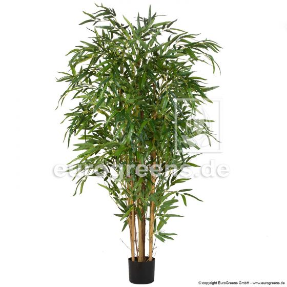Kunstpflanze Naturstamm Bambus mit Tarpaulin Blättern ca.180cm