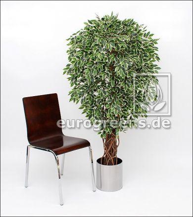 Kunstpflanze Ficus Liane Miniblatt de Luxe grün/creme 150cm