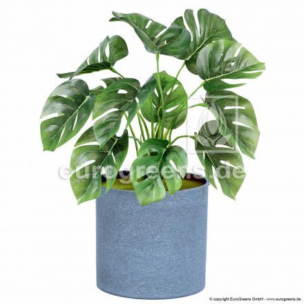 Kunstpflanze Monstera ca. 30cm hoch (mit Einsteckstab/ ungetopft)