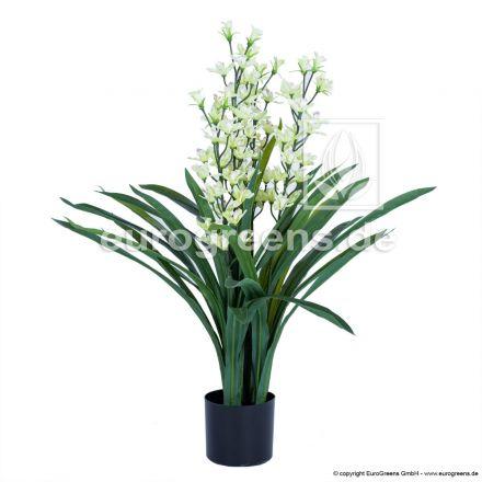 Kunstpflanze Orchidee Cymbidium ca. 95cm , blühend