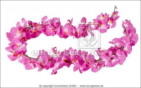 künstliche Orchidee Girlande, 200cm mit 64 Blüten