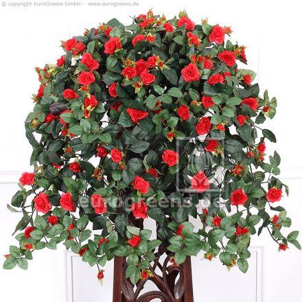 Kunstpflanze Rosenranke rot ca.70cm mit Einsteckstab