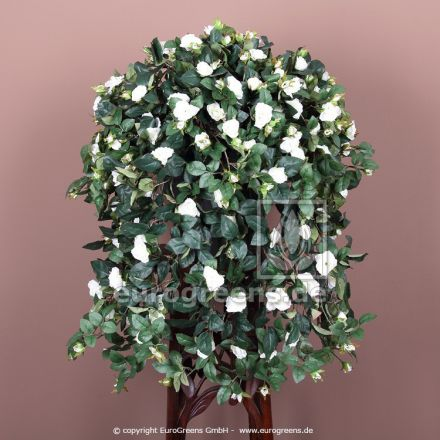 Kunstpflanze Rosenranke weiß ca.70cm mit Einsteckstab