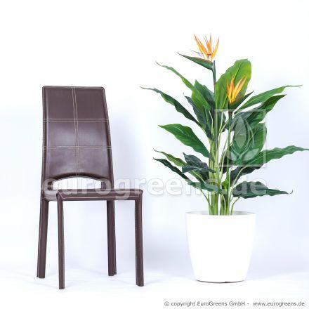künstliche Strelitzie blühend ca. 120cm mit 2 Blüten
