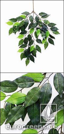 künstlicher Jade Ficus Zweig grün ca. 45cm lang