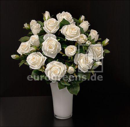 künstlicher Rosen-Strauß creme ca. 50cm (mit Einsteckstab/ohne Vase)