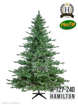 künstlicher Spritzguss Weihnachtsbaum Edeltanne Hamilton ca. 240cm