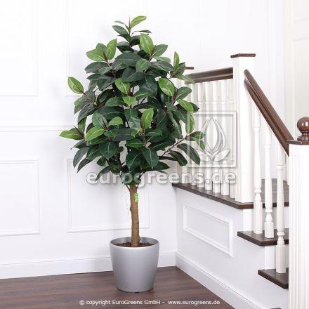 Kunstpflanze künstlicher Gummibaum De Luxe ca. 190cm