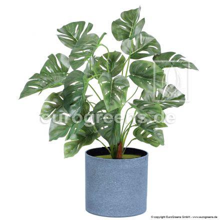 künstliche Monstera Pflanze ca. 45cm hoch (mit Einsteckstab/ ungetopft)