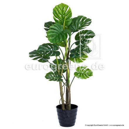 künstliche Monstera Pflanze ca. 130cm mit großen Blättern
