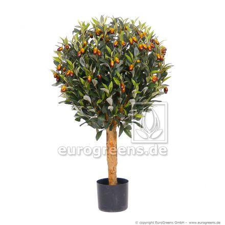 Kunstpflanze Olivenkugelbaum ca. 90cm
