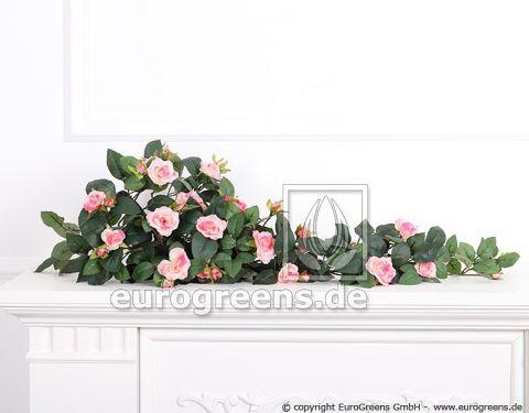 Kunstpflanze Rosenranke rosa/pink ca.70cm mit Einsteckstab