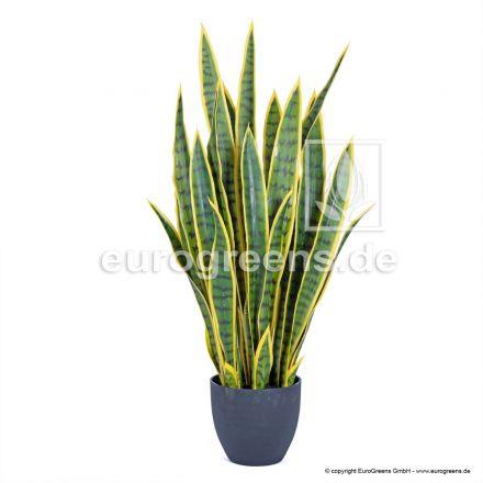 Kunstpflanze Sansevieria grün/gelb getopft ca. 85cm hoch