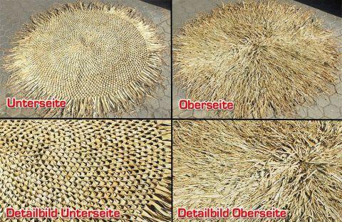 Palmdach rund Durchmesser 210cm geflochten