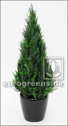 künstliche Zypresse Thuja ca. 85cm (mit Einsteckstab/ungetopft)