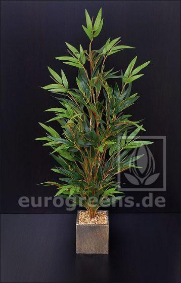 künstlicher Mini Bambus Busch ca. 65-70cm (mit Einsteckstab/ ungetopft)