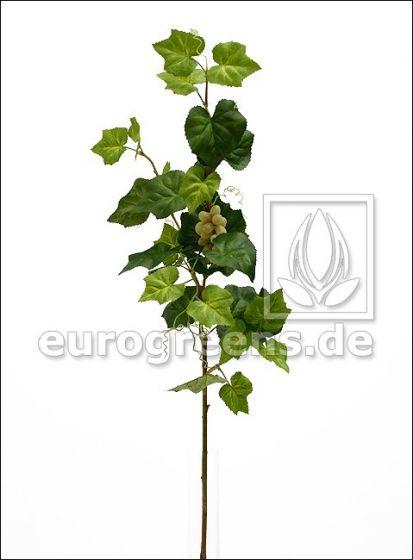 künstlicher Wein Zweig mit grünen Trauben ca. 95cm