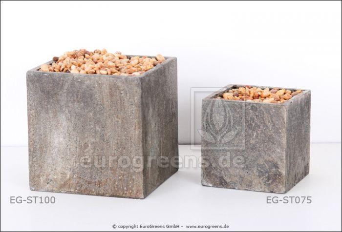 Pflanztopf mit Steckmasse in Steinoptik 7,5 cm