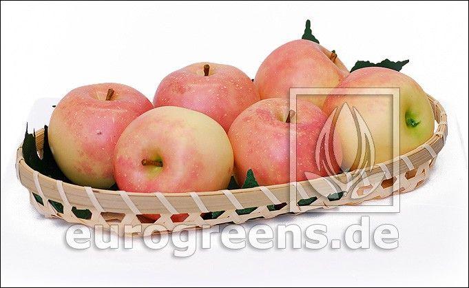 künstlicher Apfel hellrot